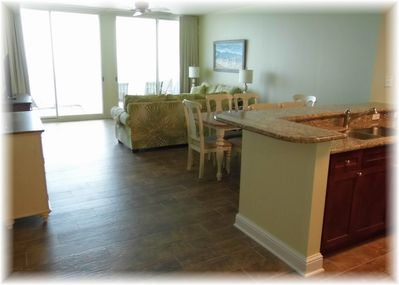 Dining and living area with great views and seating for every one!