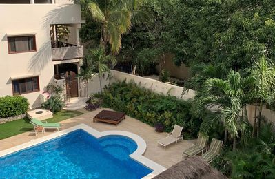 Photo for Amazing condo with pool and enclosed garden patio