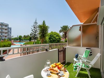 Photo for Tenesor Cosy Apartment in central Playa del Ingles with terrace and shared pool