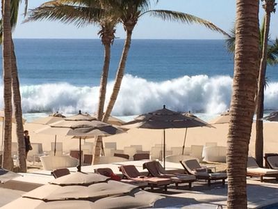 Sea of Cortez can have pounding surf or gently lapping waves.