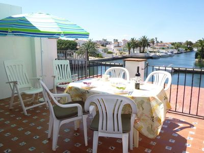 Photo for Apartment in the urbanization of Empuriabrava Canal View