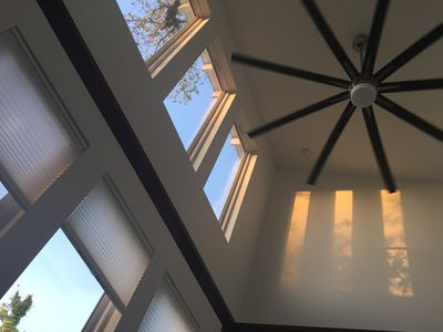 Absolutely amazing to wake as the morning light fills the 20' high ceilings