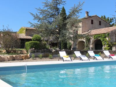 Photo for PROVENCE HOLIDAYS -  Beautiful house with large pool and panoramic views