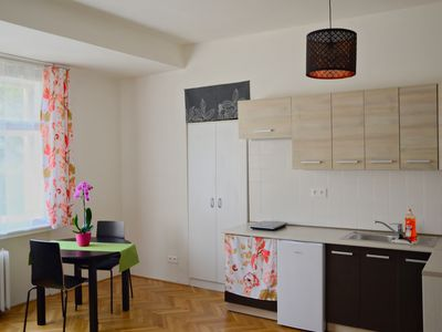 Photo for Flower - modern apartment in the center of Prague (Nusle) with art exhibition