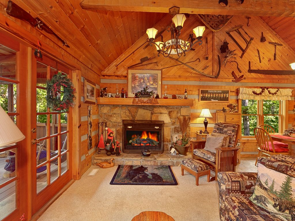 smoky mountain cabin for family with fire p vrbo