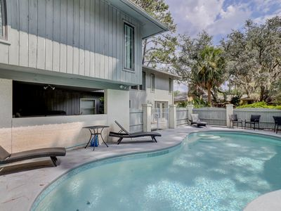 Photo for Beach house Private Pool 5 BRs Updated Kitchens Baths Spectacular Water Marsh Views Near the Beach