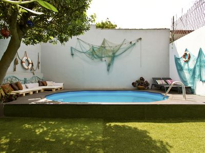 Photo for Glamours Villa with swimming pool by the beach