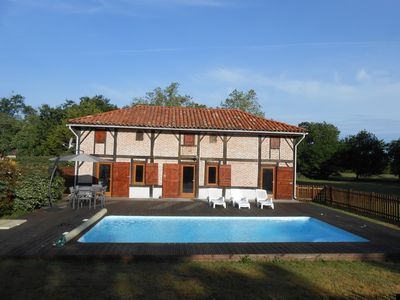Photo for Landes house late 19th 4 to 6 people with swimming pool Mimizan Biscarosse