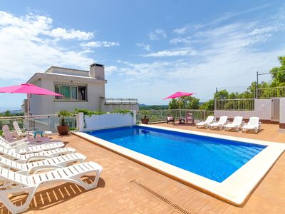 Photo for Club Villamar - Very spacious 13-person villa with a large swimming pool and breath-taking view o...