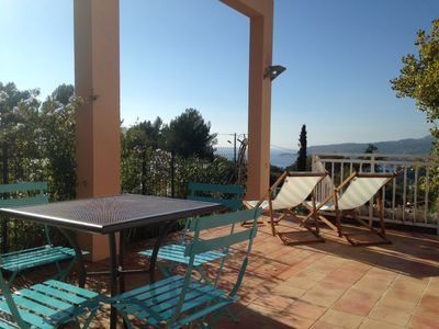 Photo for Exceptional view and panoramic sea, Cassis, Cap Canaille and the Calanques