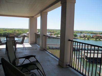 Photo for Captivating Corner condo with a 270 degree view of Lake LBJ