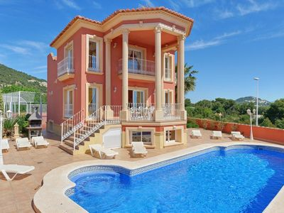 Photo for 9 bedroom Villa, sleeps 20 with Pool, Air Con, FREE WiFi and Walk to Shops