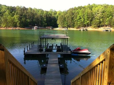 Photo for Deep Water - 81' to Lake  *WiFi* - Pets Ok,   GA 400. Exit 15, Washer/Dryer