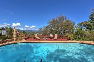 Go for a morning swim in your private pool with incredible mountain views!