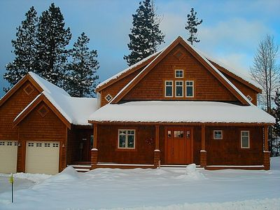 Exterior - Winter - Fun in the snow!!  Snowmobile or XC Ski from your front door!