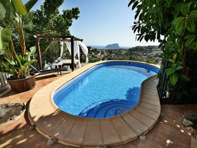 Photo for Private and secured pool, stunning sea views, wifi, near the sea, summer kitchen