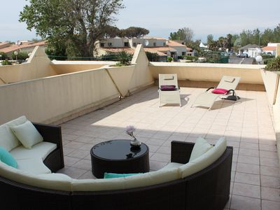 Photo for In the heart of the NATURIST VILLAGE! Splendid 2 rooms with very big terrace