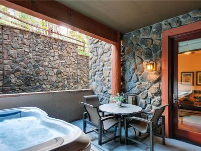 Photo for 2-Bedroom Luxury Condo, Enjoy a few Summer Nights in your Private Hot Tub