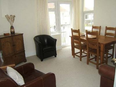 Photo for BOURNECOAST: SEA VIEWS - flat in first class, stunning cliff top position -FM281