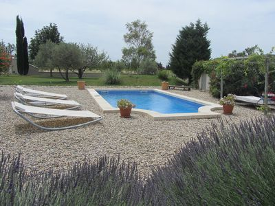 Photo for Provencal farmhouse in an exceptional setting with heated pool