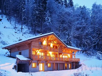 Photo for Chalet Arpitan 19p : Luxury chalet with panoramic view for groups