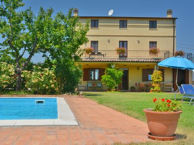 Photo for Fully restored country villa with pool set in private gardens