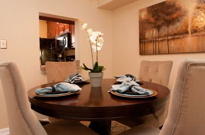 2 Bed Unit Dining Area with Kitchen Pass-through
