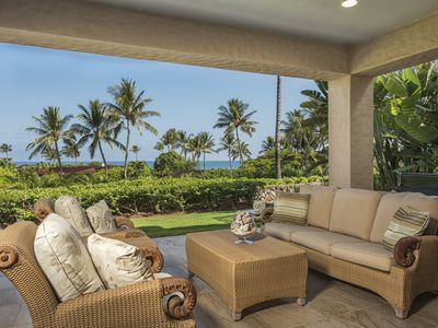Photo for *SUMMER SPECIALS* OCEAN VIEWS LUXURY AND LOCATION AT HUALALAI RESORT ** TWO GOLF CARTS** GARDEN LEVEL VILLA