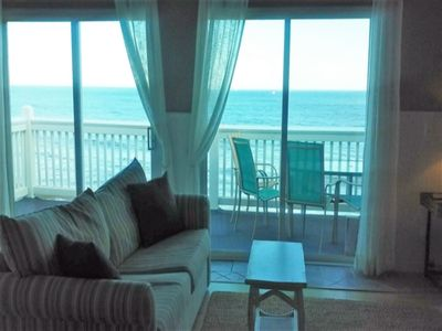Photo for Come SEA Our Difference... Premium Oceanfront Condo w/ Cottage Charm, Dog Friendly & Pool
