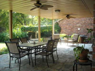 Covered Patio, Outdoor Dining and Seating Areas
