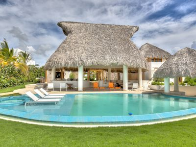 Photo for Beautiful Thatched Roof Villa, Unique Pool, Hot Tub, AC, Free Wifi, Butler/Maid Service