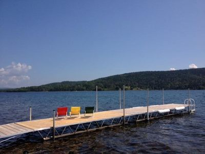 Private Dock-Water's Edge Relaxation- Sunshine, Gentle Breezes and Great Views