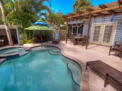 Photo for BOOK YOUR 2020 STAY TODAY! CHARMING COTTAGE WITH PRIVATE POOL AND SPA! 4 HOUSES TO BEAUTIFUL CRYSTAL BLUE GULF WATERS!!