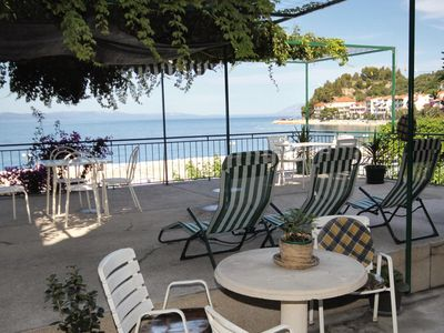 Photo for One bedroom apartment with terrace and sea view Podgora, Makarska (A-6836-c)