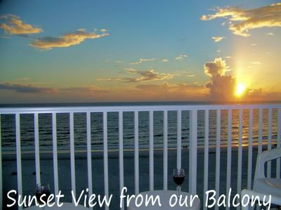 Photo for Sea Breeze Gulf Front Condo Amazing Beach and Balcony Views
