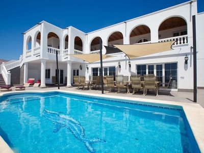 Photo for A stunning villa with WOW factor, 9 bed, 9 bath panoramic sea views