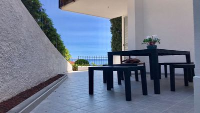 Photo for New apartment with terrace overlooking the gulf 200 meters from the sea.