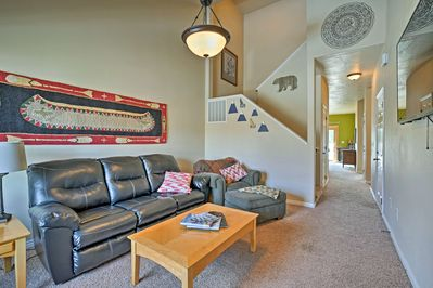 You'll feel right at home inside this spacious townhouse.