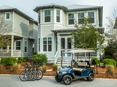 Photo for 2020 Rates Reduced! 4 Seater Golf Cart! Resort Pool*! Beach* Off the Beachin' Path at NatureWalk 30A