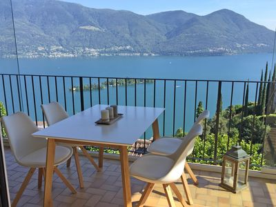 Photo for Apartment in a two-family house with terrace, private garden and great views