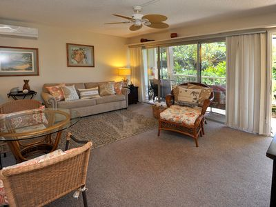 Photo for Tropical Garden View at a Beach Front Property-Kihei Kai Unit 6