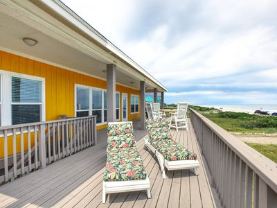 Photo for SeaDreams  Ocean front 3 BR, 2 BTH, gourmet kitchen, ocean view wrap around porch
