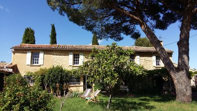 Photo for Superb Provencal mas in the heart of the vineyards, for 10 people