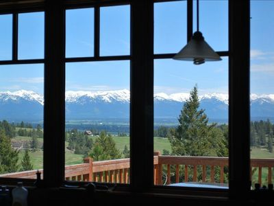 Photo for Serene Ridgetop  Kalispell Home -View Over Kitchen Sink