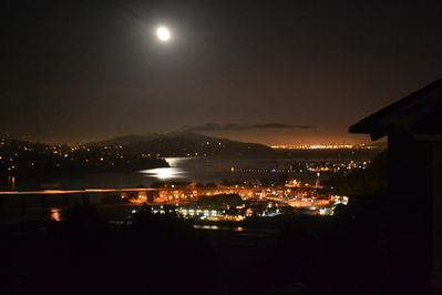 Moonlight reflections on Richardson Bay