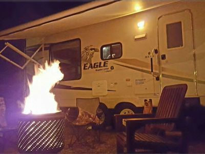 RV with Amazing Views! Private 3.5 acres, peaceful spot next to national forest