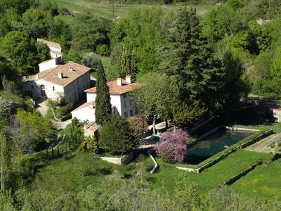 Photo for In a beautiful area of agriculture, a large house and two guest