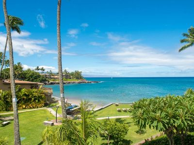 Photo for Kahana Sunset B5 - Spring Dates Open - Expansive ocean views, Secluded Sandy Beach, Remodeled, Lanai