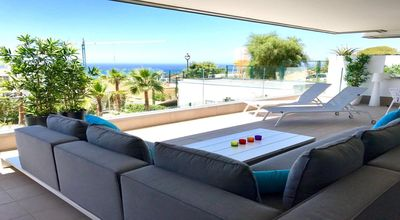 Photo for Superb sea view apartment in Marbella!