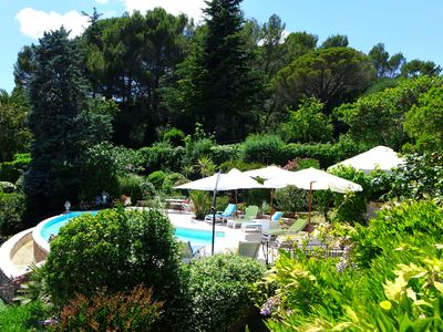 Photo for Superb villa in lush greenery MOUGINS near CANNES and beaches